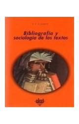 Papel BIBLIOGRAFIA Y SOCIOLOGIA DE LOS TEXTOS (R) (2005)