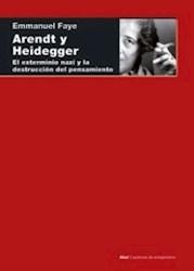 Libro Arendt Y Heidegger