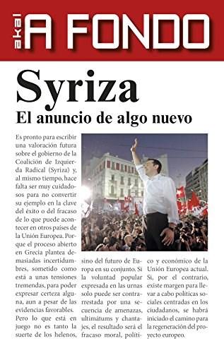 Papel Syriza. El Anuncio De Algo Nuevo