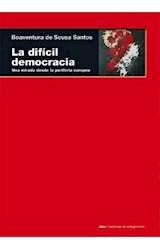 Papel LA DIFICIL DEMOCRACIA