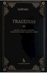 Papel TRAGEDIAS III [EURIPIDES] (BIBLIOTECA GREDOS) (CARTONE)