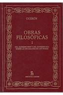 Papel OBRAS FILOSOFICAS I (CICERON) (BIBLIOTECA GREDOS) (CARTONE)