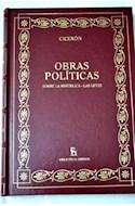Papel OBRAS POLITICAS SOBRE LA REPUBLICA - LAS LEYES (BIBLIOTECA GREDOS) (CARTONE)