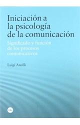 Papel Iniciación a la psicología de la comunicación