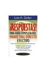 Papel RESPUESTAS UNA GUIA COMPLETA DEL MARKETING DIRECTO EFECTIVO (PAIDOS EMPRESA 49062)