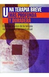 Papel UNA TERAPIA BREVE MAS PROFUNDA Y DURADERA