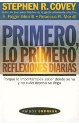 Papel PRIMERO LO PRIMERO REFLEXIONES DIARIAS