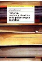 Papel HISTORIA, TEORIAS Y TECNICAS DE LA PSICOTERAPIA COGNITIVA