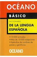 Papel DICCIONARIO OCEANO BASICO DE LA LENGUA ESPAÑOLA (RUSTICA)