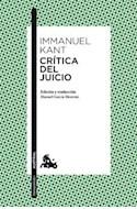 Papel CRITICA DEL JUICIO (COLECCION HUMANIDADES) (BOLSILLO)