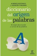 Papel DICCIONARIO DEL ORIGEN DE LAS PALABRAS EL ORIGEN DESCONOCIDO Y CURIOSO DE LAS PALABRAS