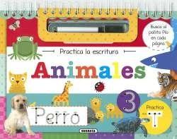 Libro Animales Practica La Escritura (Trae Rotulador)