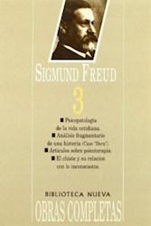 Papel Obras Completas S Freud Tomo 3 Bibl.Nueva