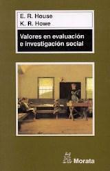 Papel VALORES EN EVALUACION E INVESTIGACION SOCIAL