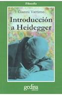 Papel INTRODUCCION A HEIDEGGER (COLECCION FILOSOFIA)