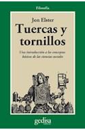 Papel TUERCAS Y TORNILLOS UNA INTRODUCCION A LOS CONCEPTOS BASICOS DE LAS CIENCIAS SOCIALES (FILOSOFIA)