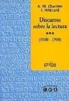 Papel Discursos Sobre La Lectura (1880-1980)