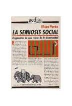 Papel LA SEMIOSIS SOCIAL