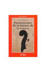 Papel FUNDAMENTOS DE LA HISTORIA DE LA MUSICA