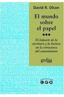 Papel MUNDO SOBRE EL PAPEL (COLECCION LEA)