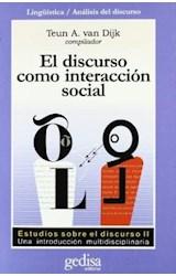Papel EL DISCURSO COMO INTERACCION SOCIAL,