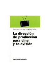 Papel LA DIRECCION DE PRODUCCION PARA CINE Y TELEVISION