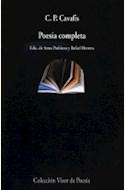 Papel POESÍA COMPLETA (CAVAFIS)