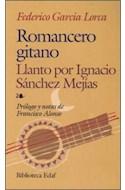 Papel ROMANCERO GITANO LLANTO POR IGNACIO SANCHEZ MEJIAS (BIBLIOTECA EDAF)