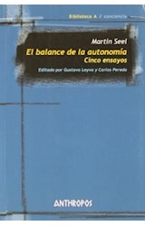Papel BALANCE DE LA AUTONOMIA, EL. CINCO ENSAYOS