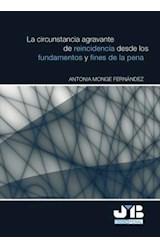 E-book La circunstancia agravante de reincidencia desde los fundamentos y fines de la pena.