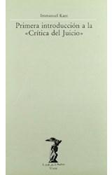 Papel PRIMERA INTRODUCCION A LA CRITICA DEL JUICIO