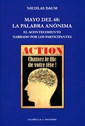 Libro Mayo Del 68  La Palabra Anonima