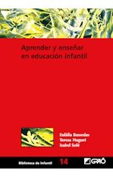 Papel APRENDER Y ENSEÑAR EN EDUCACION INFANTIL