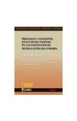 Papel PROCESOS Y CONTEXTOS EDUCATIVOS: ENSEÑA EN LAS INSTITUCIONES