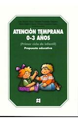 Papel ATENCION TEMPRANA 0-3 AÑOS (PRIMER CICLO DE INFANTIL) PROPUE