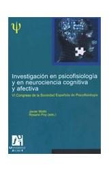Papel INVESTIGACION EN PSICOFISIOLOGIA Y EN NEUROCIENCIA COGNITIVA