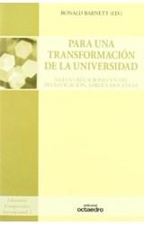 Papel PARA UNA TRANSFORMACION DE LA UNIVERSIDAD