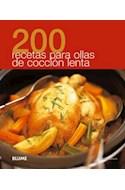 Papel 200 RECETAS PARA OLLAS DE COCCION LENTA (RUSTICO)