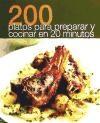 Papel 200 Platos Para Preparar En 20 Minutos