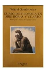 Papel CURSO DE FILOSOFIA EN SEIS HORAS Y CUARTO