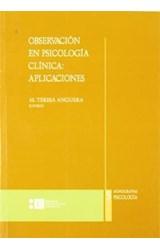 Papel OBSERVACION EN PSICOLOGIA CLINICA: APLICACIONES