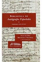 Papel BIBLIOTECA DE AUTOGRAFOS I ESPAEOLES I