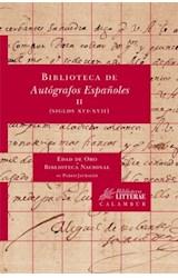 Papel BIBLIOTECA DE AUTOGRAFOS II ESPAEOLES II