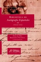 Papel BIBLIOTECA DE AUTOGRAFOS IV ESPAEOLES IV