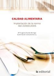 Libro Calidad Alimentaria. Implantacion De La Norma Iso