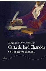 Papel Carta De Lord Chandos Y Otros Textos En Prosa