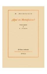 Papel ¿Qué Es Metafísica?, Versión Española De Xavier Zubiri