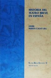 Papel Historia Del Teatro Breve En España