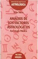 Papel ANALISIS DE LOS FACTORES ASTROLOGICOS ASTROLOGIA MEDICA