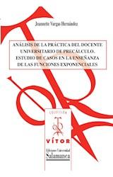 E-book An·lisis de la pr·ctica del docente universitario de prec·lculo